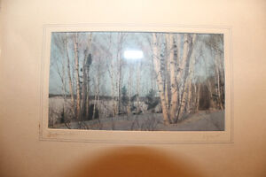 Pair of Hand Coloured Photographs of Northern Ontario - Signed London Ontario image 2