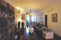 Condo semi meublé, tout rénové,1045 pieds carrés, terrasse