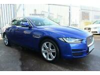 2017 BLUE JAGUAR XE 2.0 D 180 PORTFOLIO DIESEL SALOON CAR FINANCE FR £273 PCM