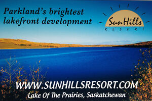 Sun Hills Resort, Lake of the Prairies, Sk, show home or lots
