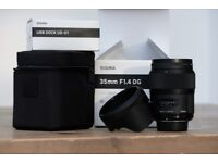 Nikon Sigma 35mm Art for Nikon & USB Dock