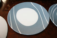 6 Royal Doulton Blue Line Luncheon Plates