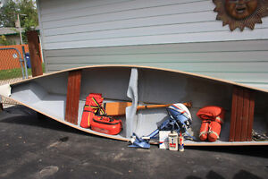 16 ft. Frighter Canoe,  4 hp Evinrude motor & Accesories