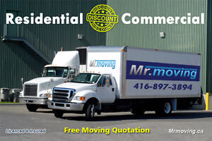 TORONTO MOVERS DISCOUNT - FREE MOVING QUOTES - BEST MOVING RATE