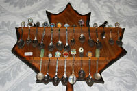 SPOON COLLECTION AND PLAQUE-ANTIQUE-$25.00