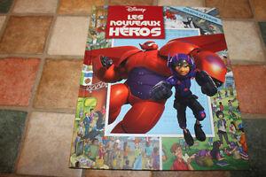 livre cherche et trouve neuf big heros (nouveaux héros)