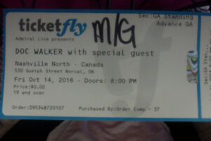 Doc Walker Concert & Meet and Greet Tickets (4) Stratford Kitchener Area image 2