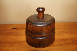 Old Antique Wooden Butter Press