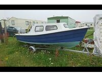 14ft fishing boat with trailer and outboard