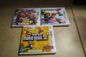 Three Nintendo 3DS games