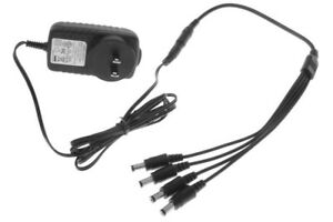 4-in-1 regulated power adapter for wired Lorex security cameras