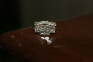 Beautiful white gold and Diamond Engagement and Wedding Ring Set