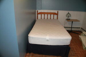 Single bed, box spring/mattress/ bedding all included