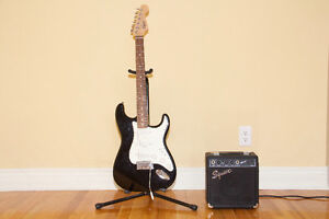 Fender Squire Electric Guitar With Amp & Accessories