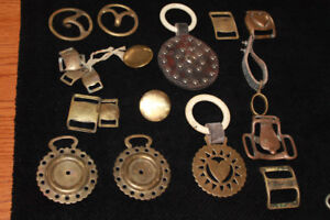 19 pieces of Brass harness decorations