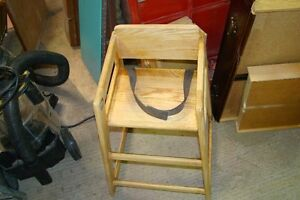 Child's wooden booster highchair (ideal even as a plant stand)