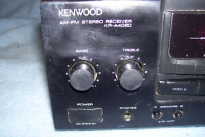 KENWOOD AM & FM STEREO RECIEVER MODEL # KR-A4060 WITH VIDEO 1&2 Stratford Kitchener Area image 2