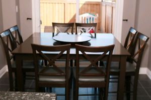 Counter height table with 10 chairs