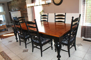 Grande table de cuisine et table bistro