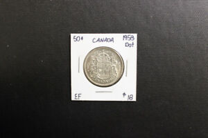 Canada 1958 50 Cent Coin