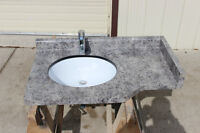 Vanity Top With Pfister Taps and Undermount Counter-Seal Sink