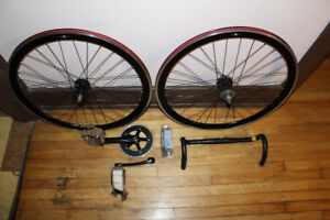 Fixed gear single speed groupset