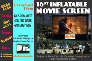 HD INFLATABLE CINEMA SCREENS FOR RENT!!!