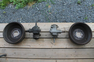 Two Steering Boxes and Two Front Brake Drums