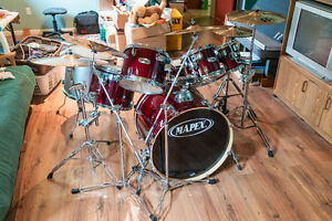 Mapex M Drum Set w/ Meinl Cymbals and Pearl Eliminator Pedals