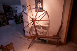 Wool Winder and Walking Wheel