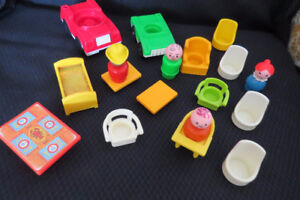 accessoires vintage fisher price toy's