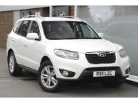 2011 Hyundai Santa Fe 2.2 CRDi (194bhp) 4WD Premium (7 Seats) Diesel white Manua