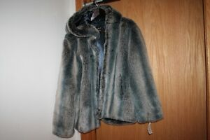 Beautiful Never-Worn Faux-Fur/Suede Winter/Fall Jackets (Size L)