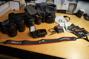 Canon EOS 5D 12.8MP Digital Kit (4 Lenses)
