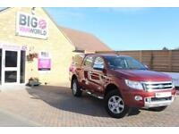 2015 FORD RANGER TDCI 150 LIMITED 4X4 DOUBLE CAB WITH TRUCKMAN TOP PICK UP DIESE