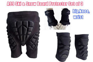 A99 Ski & Snowboard Protector Set of 3, hip, knee, wrist support