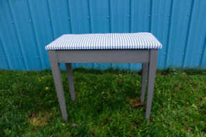 Striped Bench with Storage