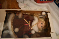 Beautiful Porcelain Christmas Doll