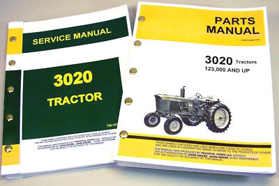 Service Manual Set For John Deere 3020 Tractor Parts Catalog Sn 123000 Up