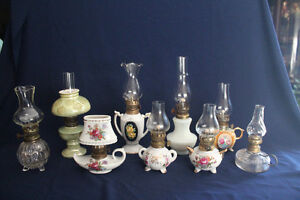 Miniature Oil Lamps $ 6 to 12 each