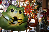 Frog birdhouse and garden items