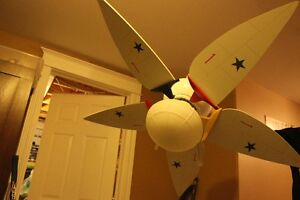 airplane ceiling fan with light