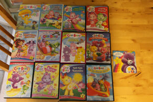 12 Care Bears DVDs in cases includes 3 movies