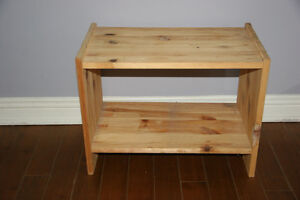 Treated wood Shelf for Shoes. Excellent condition.