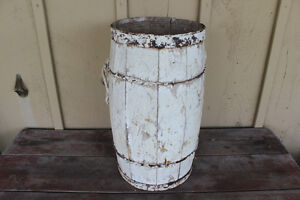 Old Wooden Nail Keg Painted White - Great for Christmas Decor London Ontario image 2