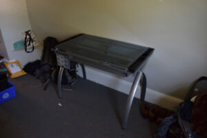 Lightly Used Glass Drafting Table