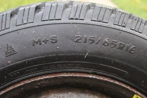 Winter Tires 215/65 R16 (Used 1 Season only)