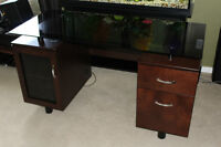 Executive Double Pedestal Desk, Rich Cherry