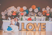 FOR RENT: LOVE marquee letters