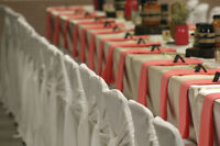 Wedding Decorations ~ Coloured Table Linen, Runners and Overlays